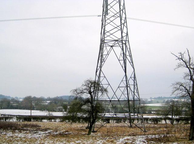 Pylon at Crossways Ditchford Bank