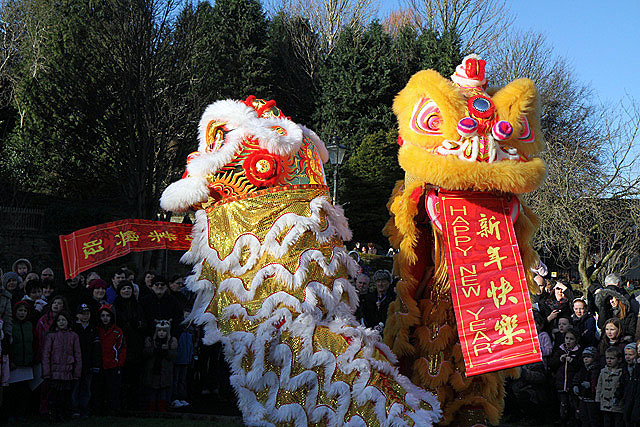 The Lion Dance in Galashiels