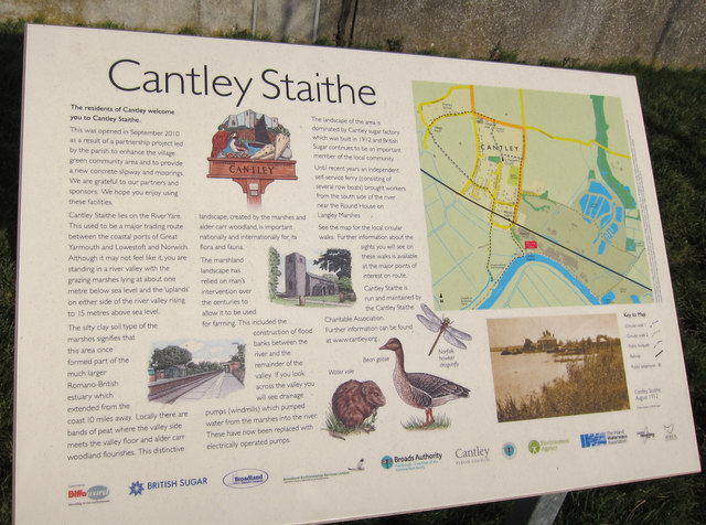 Cantley Staithe information board