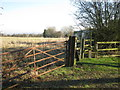 SP1698 : Right of way, Middleton Wood Farm by Michael Westley