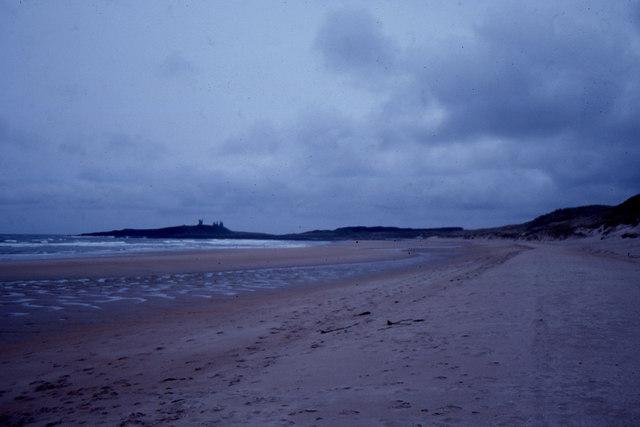 Embleton Bay, looking south to Dunstanburgh Castle