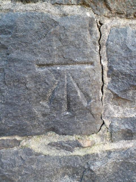 Benchmark on St. Padarn's Church, Llanberis
