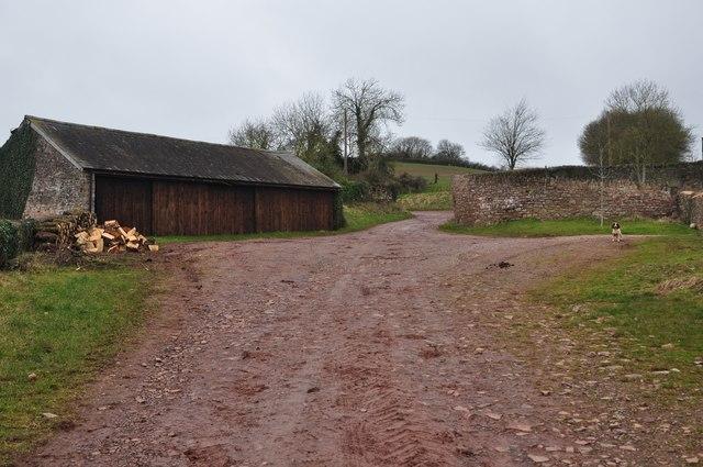 Mid Devon : Track through Kytton Barton Farm