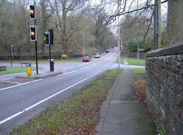 Crossroads at Brockley Combe and the A370