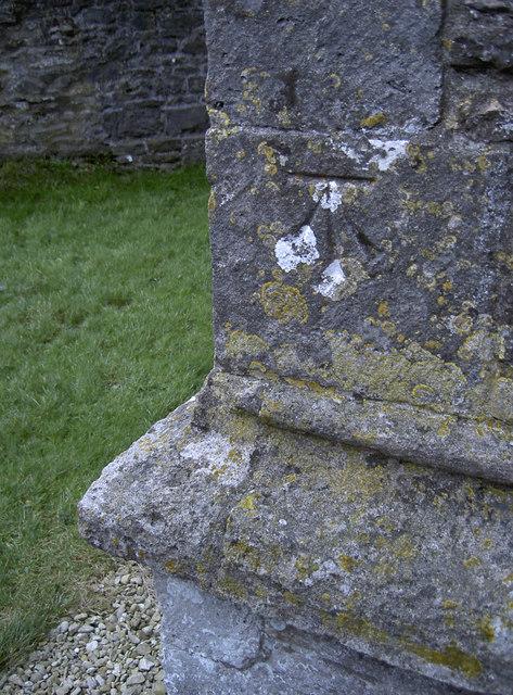 Benchmark on Brockley's church