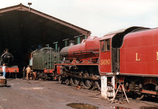 5690 Leander on Bridgnorth Shed