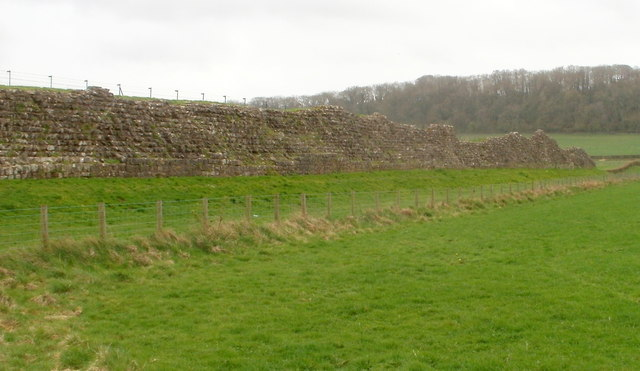 Remains of the ancient Roman west wall, Caerwent