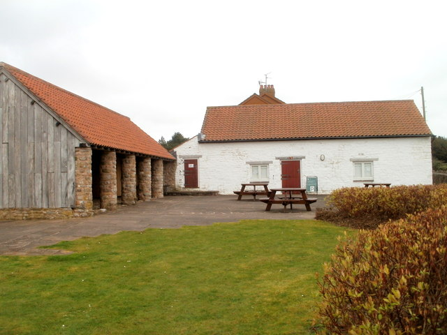 Buildings and picnic tables, Caerwent Visitor Centre
