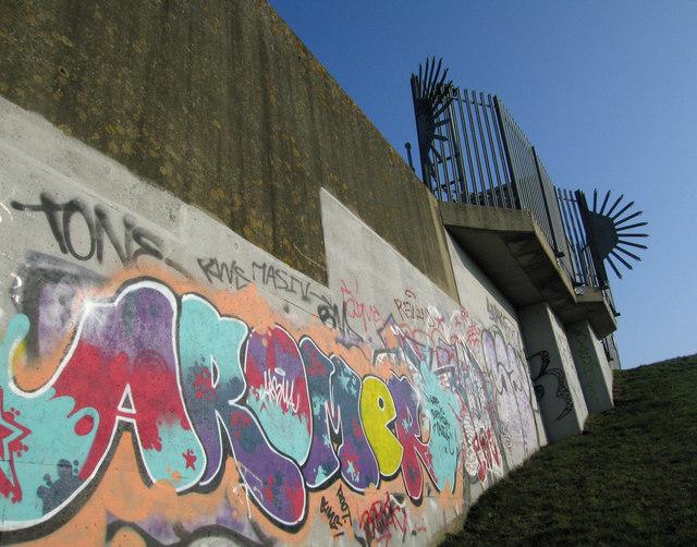 Graffiti on the Flood Barrier