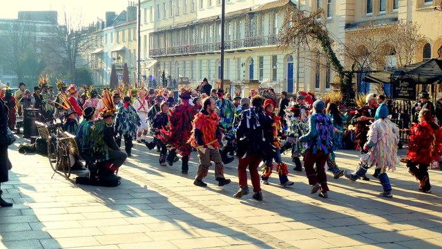 Morris dancing in Cheltenham 12