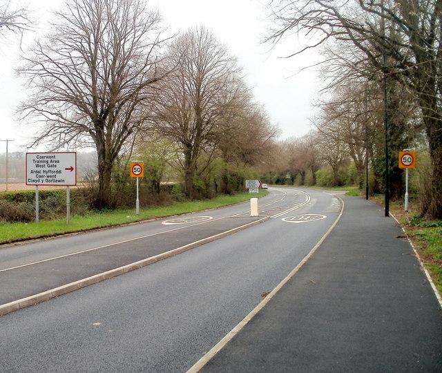 Western end of 30mph speed limit zone, Caerwent