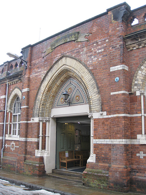 Entrance to the former drill hall