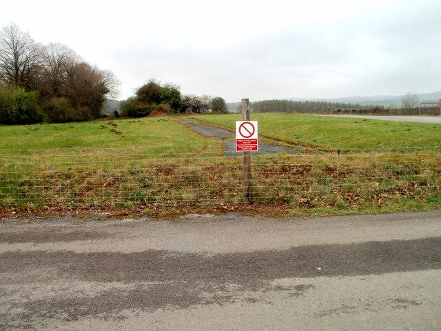 Caerwent military training range - keep out