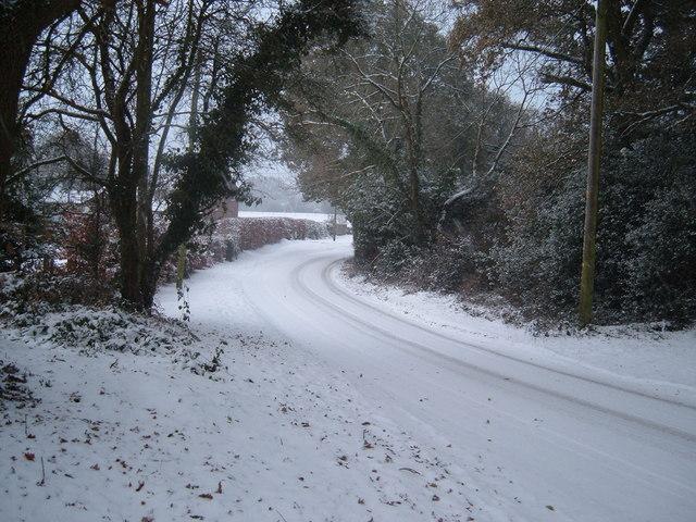 Hangersley Hill in Winter