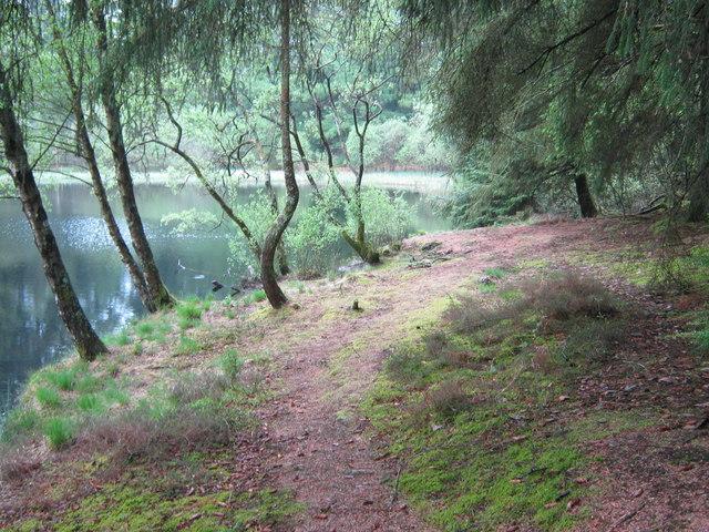 "Bruntis Loch near the ""Gem Stane"""