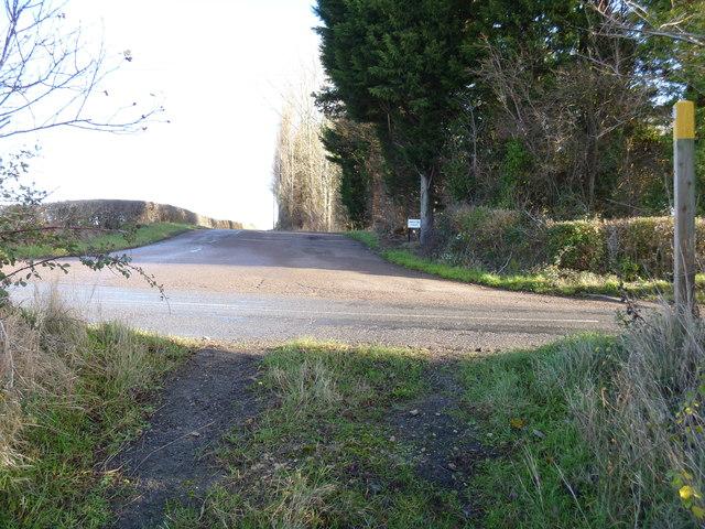 Path crosses road