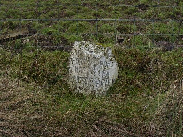 Milestone between Portnahaven and Port Charlotte, Islay