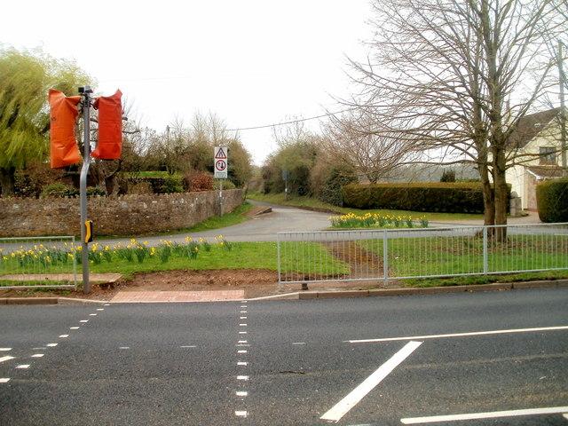New pedestrian crossing, Caerwent