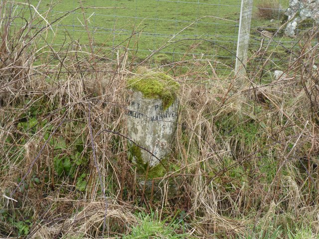 Milestone near Craigfad, Islay