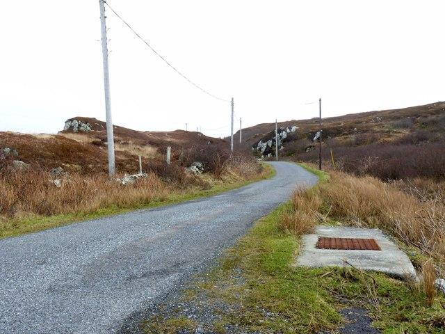 Road by Cnoc Farragain, Islay