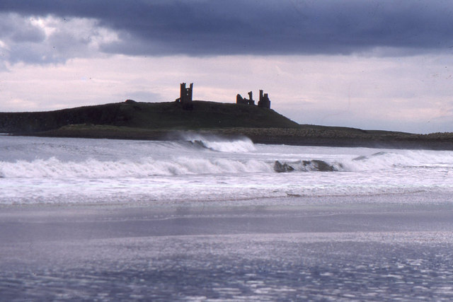 Dunstanburgh Castle from Embleton Bay