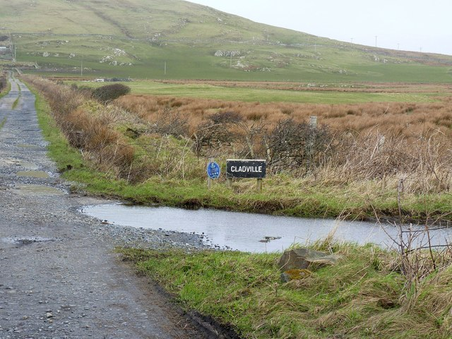 Sign and Turn-off for Cladville Farm, Islay