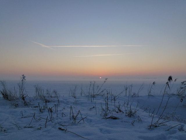 Winter wonderland in the Fens