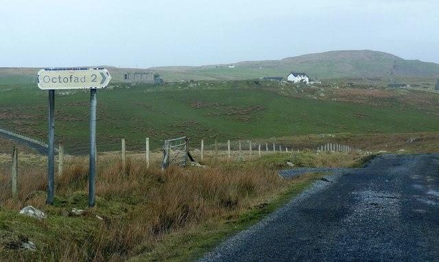 Sign for Octofad Walk, Islay