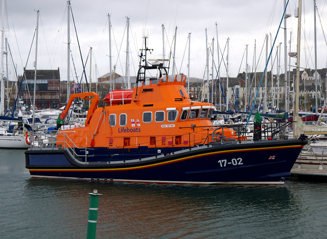 Relief Lifeboat at Bangor Marina