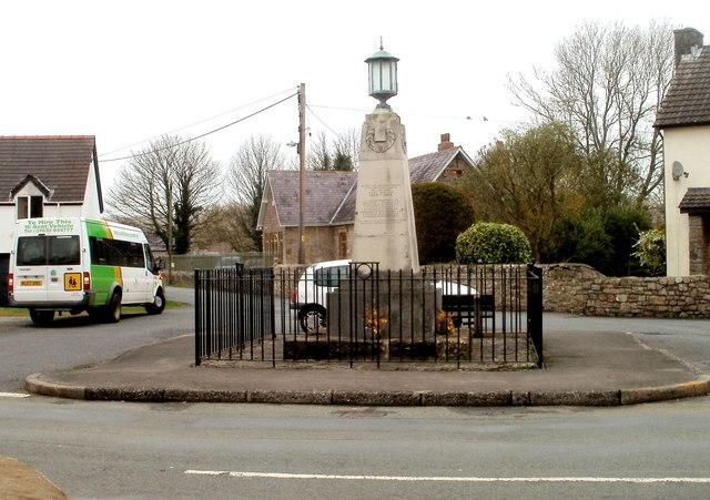 Grade II listed Caerwent War Memorial