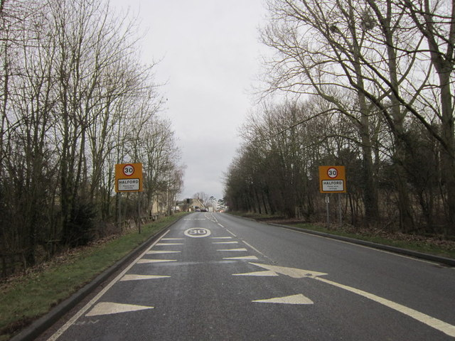 The A429 Fosse Way at Halford