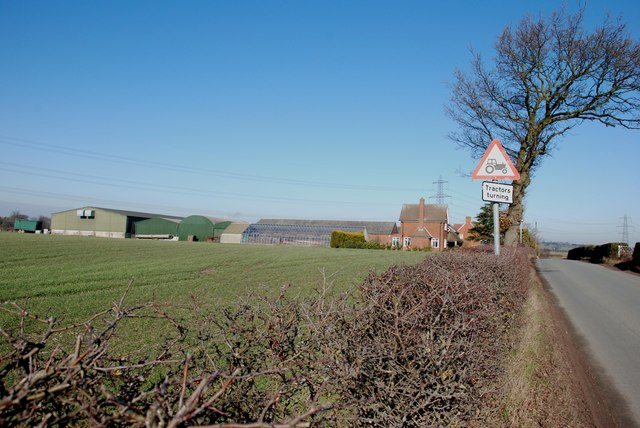 Ashcroft Farm on Ashcroft Lane near Chesterfield, Staffordshire