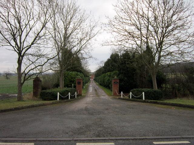 The entrance to Brick Kiln Stud Farm