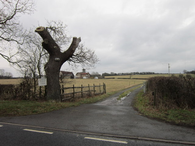 The entrance to Lower Fosse Farm