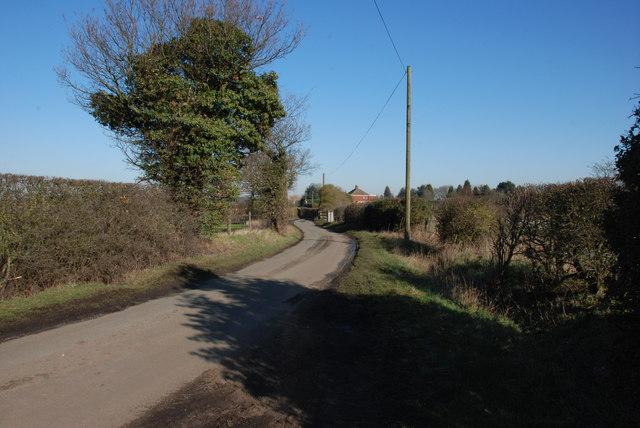 Raikes Lane looking towards Chesterfield