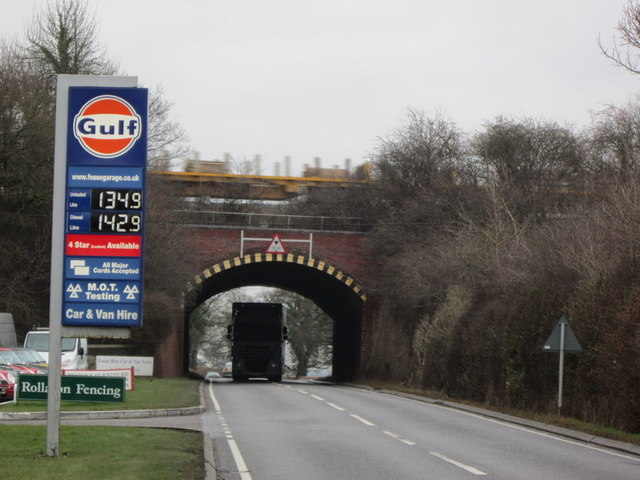 The rail bridge on the Fosse Way