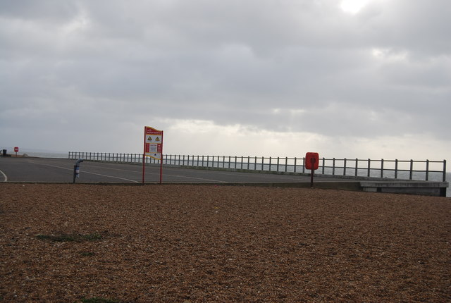 Sea front car park at West Bexington
