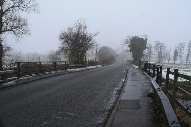 Ditchingham Dam in winter