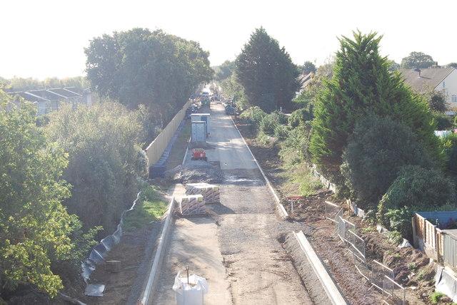 Fareham to Gosport BRT - View from Gregson Avenue Bridge (35)
