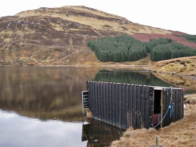 Boathouse on Loch Duagrich