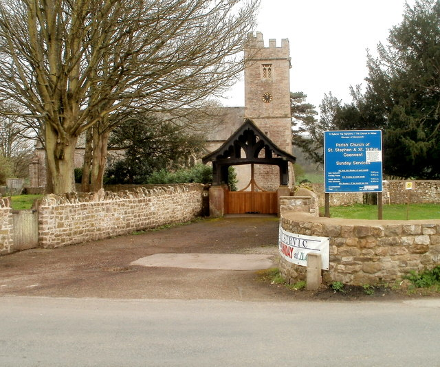 Lych gate and tower, Grade II* listed Parish Church of St Stephen & St Tathan, Caerwent