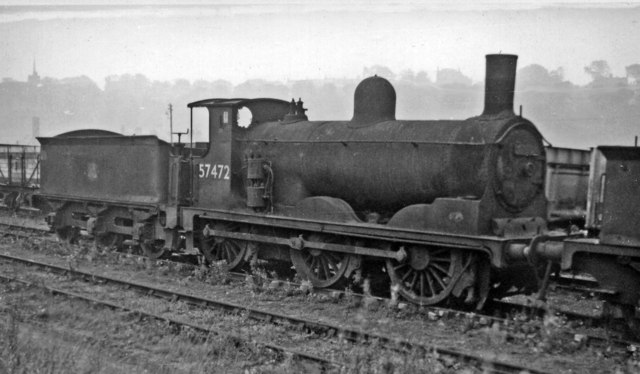 One of many condemned locomotives dumped in sidings at Bo'ness in 1961