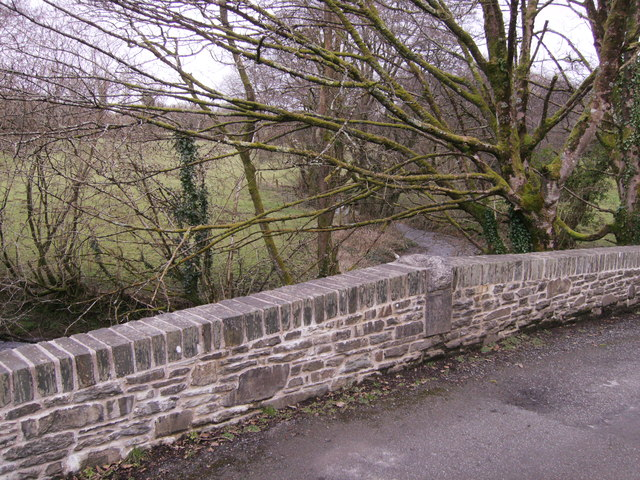 Date stone in bridge over Afon Taf