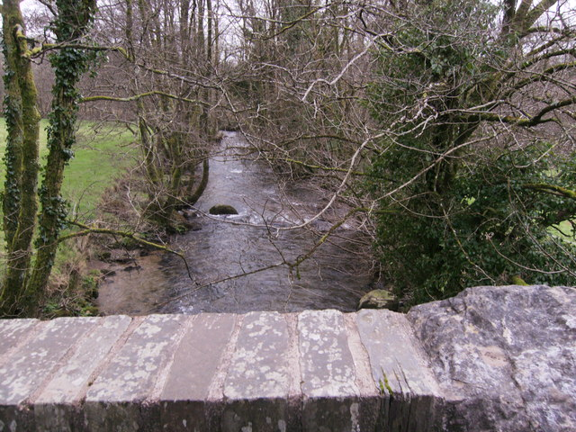 Down stream from bridge over Afon Taf