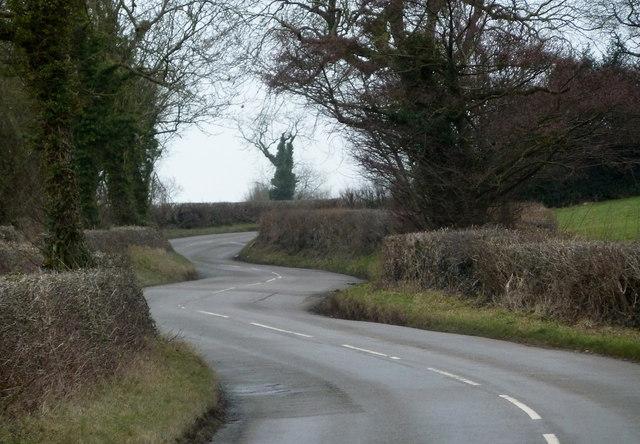 Ashover Road winding towards Littlemoor
