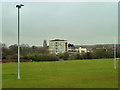 TQ4669 : Over the playing fields to Swanscombe House by Robin Webster