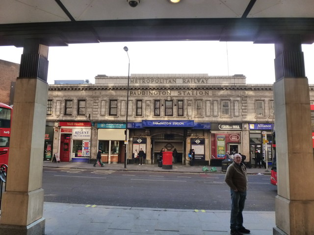Entrance to the Metropolitan line, Paddington Underground station, London
