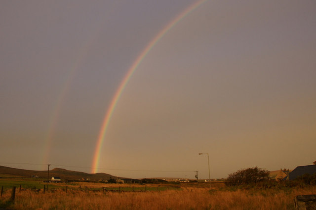 Rainbow over the Heogs, Baltasound