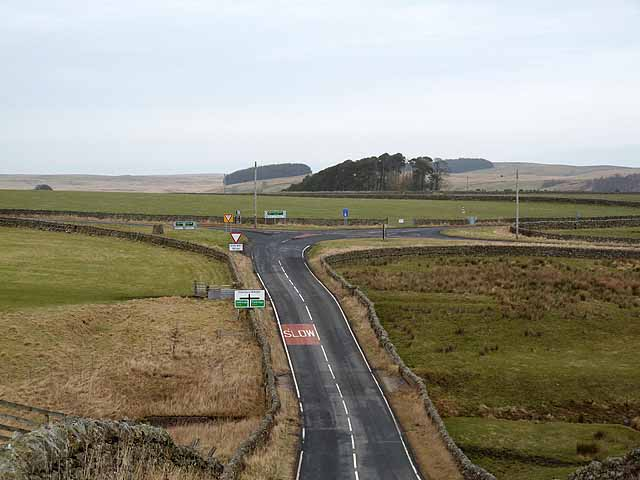 Crossroads on the A68/B6320