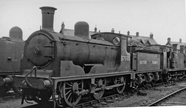 Ex-Highland Railway 0-6-0 at Corkerhill Locomotive Depot, Glasgow